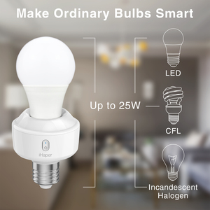 Image 3 - IHaper S1 E26/E27 Smart verlichting socket DIY Smart Home Compatibel met Apple HomeKit DIY Uw Gloeilamp Smart wifi LED socket