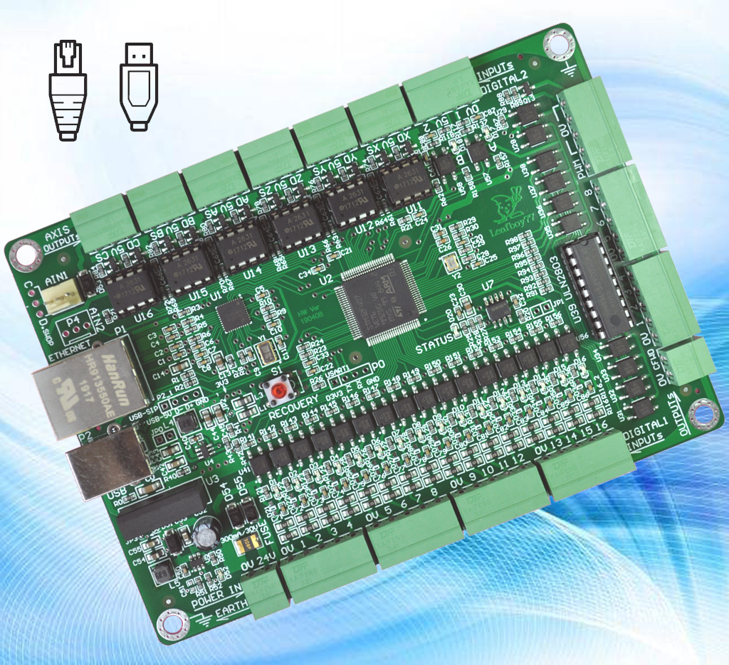 USB Ethernet MACH3 CNC Network Control Board Engraving Machine 6 Axis Net Mouth Motion Control Card