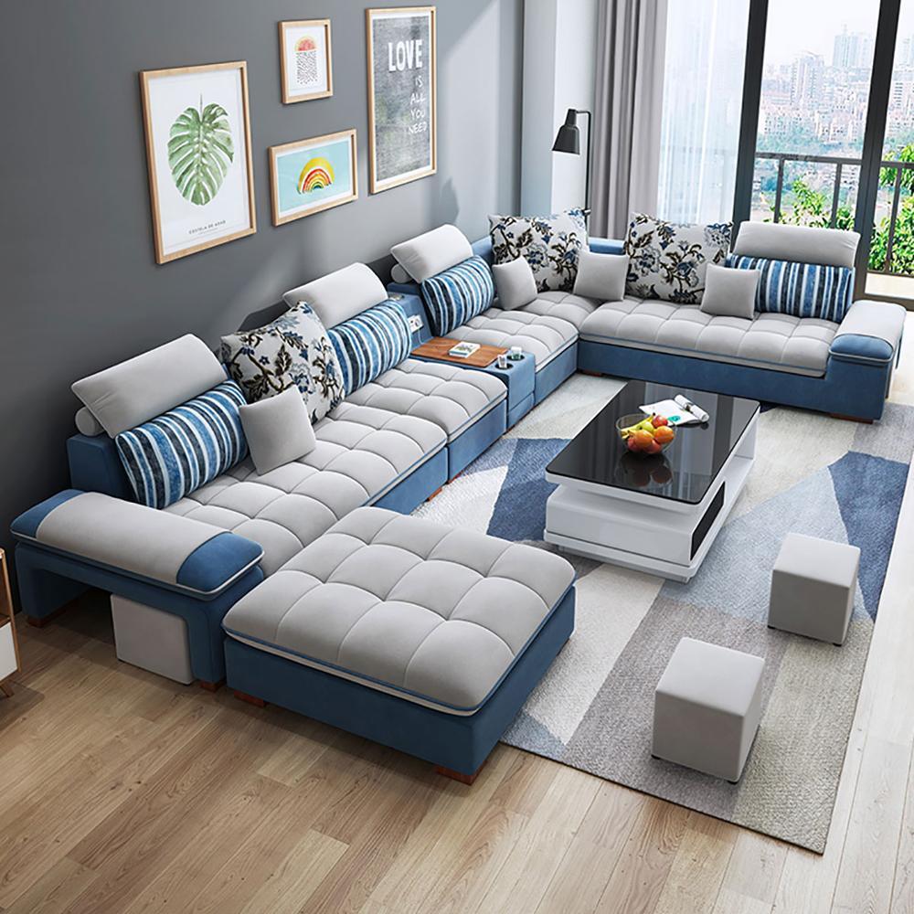 Customized High Quality Living Room Furniture Living Room Sofa Set Fabric Sofa