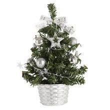 20 см мини-елка рождественский искусственный Настольный Декор фестиваль миниатюрное дерево домашняя комната обои для рабочего стола подарки для детей