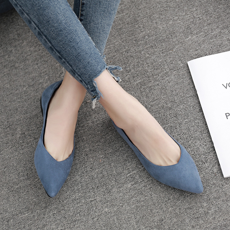Spring Autumn Women Flats Shoes Fashion Pointed Toe Shallow Mouth Woman Shoes Comfortable Soft Ladies Shoe Black Zapatos Mujer