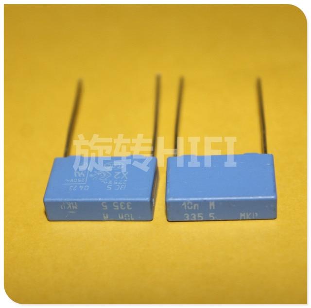 20 pces novo bc pilkor mkp 0.01 uf 275vac p15mm capacitor de filme azul vishay x2 mkp335 103/275vac 103 10nf 275 v