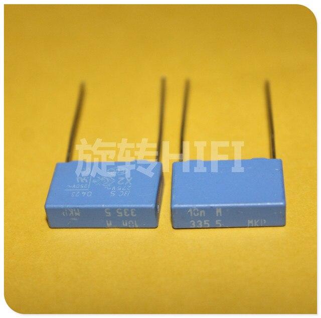 20PCS ใหม่ BC PILKOR MKP 0.01UF 275VAC P15MM สีฟ้าฟิล์ม VISHAY X2 MKP335 103/275VAC 103 10NF 275V