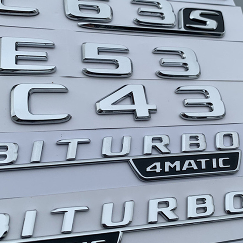 3D Emblem Badge Decal Trunk Rear Chrome For Mercedes-Benz 4MATIC AMG CLS63 SLK55