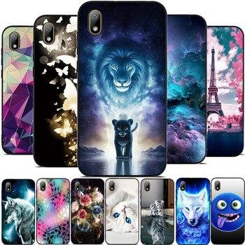 Перейти на Алиэкспресс и купить Для Huawei Y5 2019 чехол для телефона силиконовый бампер защитный для Honor 8S Чехол из ТПУ с 3D рисунком для Honor Play 8 чехол