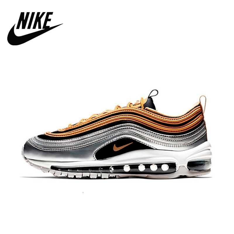 Original Authentic <font><b>Nike</b></font> <font><b>Air</b></font> <font><b>Max</b></font> 97 OG QS Silver Bullet <font><b>Men's</b></font> Sneakers Breatheable Running <font><b>Shoes</b></font> AQ4137-700 image