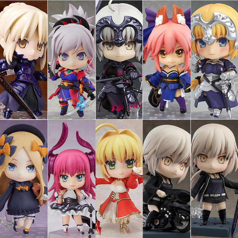 10CM Original Figure Fate Series Female Characters Saber PVC ABS  Model Collection Toy With Box Japanese Genuine