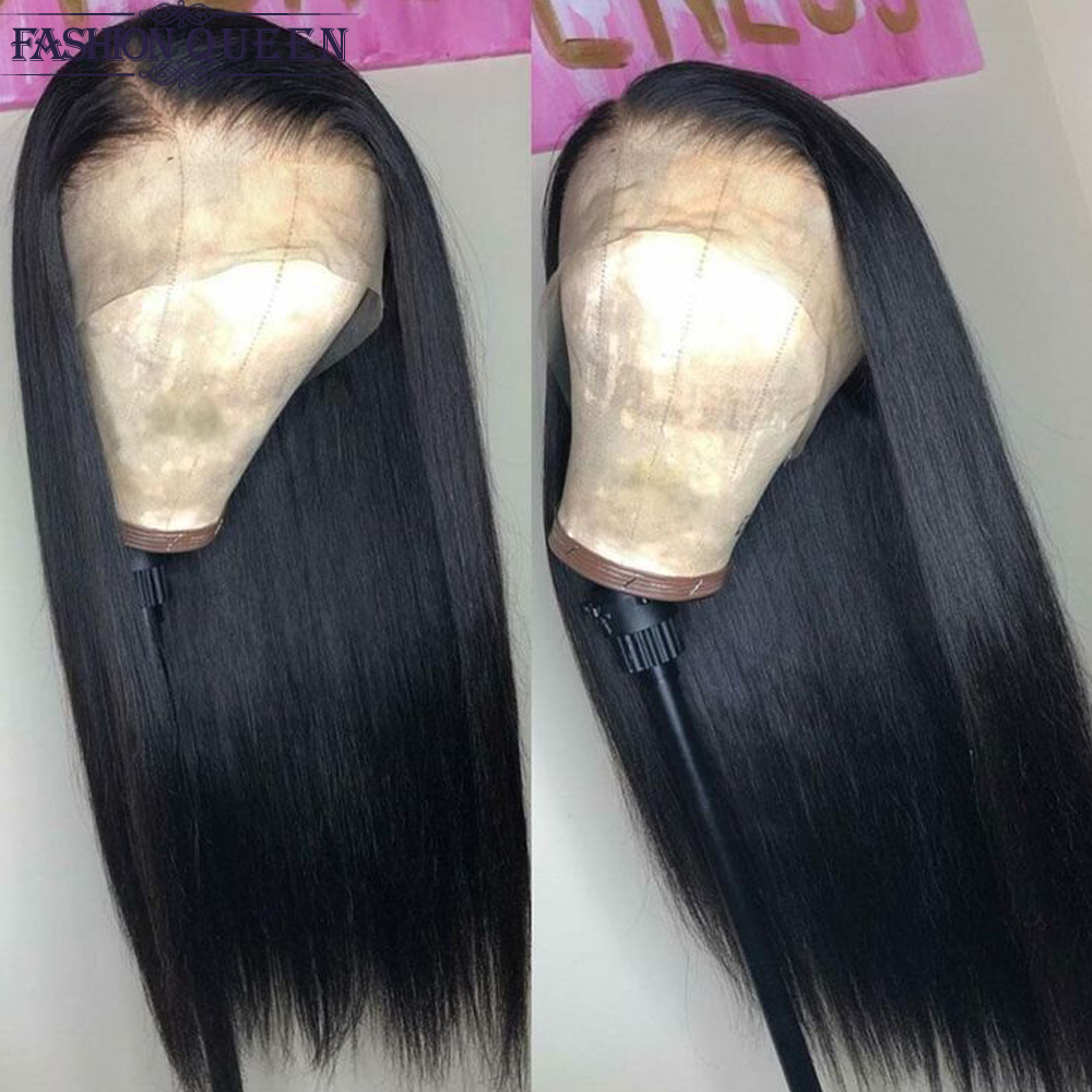 Brazilian Straight Human Hair Wigs  With Baby Hair Lace Wigs For Women Can Be Adjustable Non Remy Wig Fashion Queen