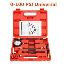цена на Universal Vehicle Fuel Injection Pump Pressure Injector Tester Test Pressure Gauge Power 0-100psi Car Diagnostic Tool