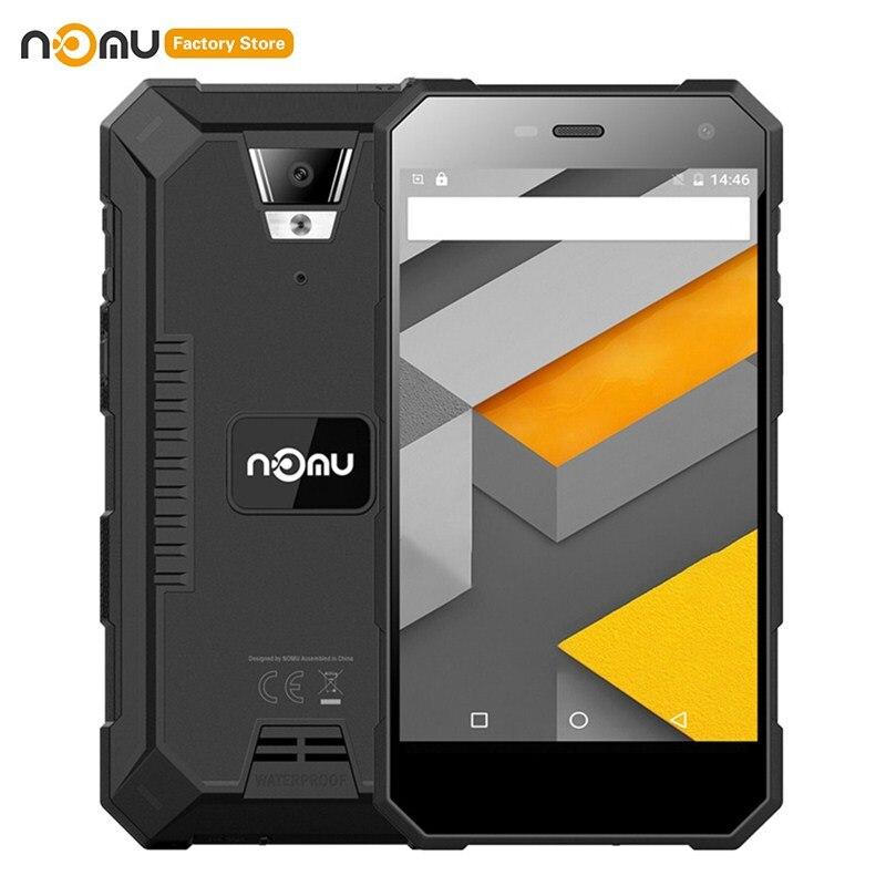 Smartphone Original IP68 étanche NOMU S10 4G 5.0 pouces Android 7.0 MTK6737VWT Quad Core 1.5GHz 2GB RAM 16GB ROM 8.0MP 5000mAh