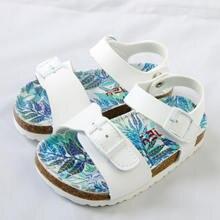 Летняя детская обувь модные детские сандалии из искусственной