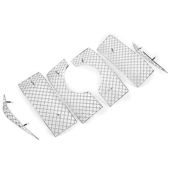 Car Styling Accessories for Toyota Land Cruiser Prado 150 2018 Fj150 Car Screening Mesh Front Grille 6Pcs