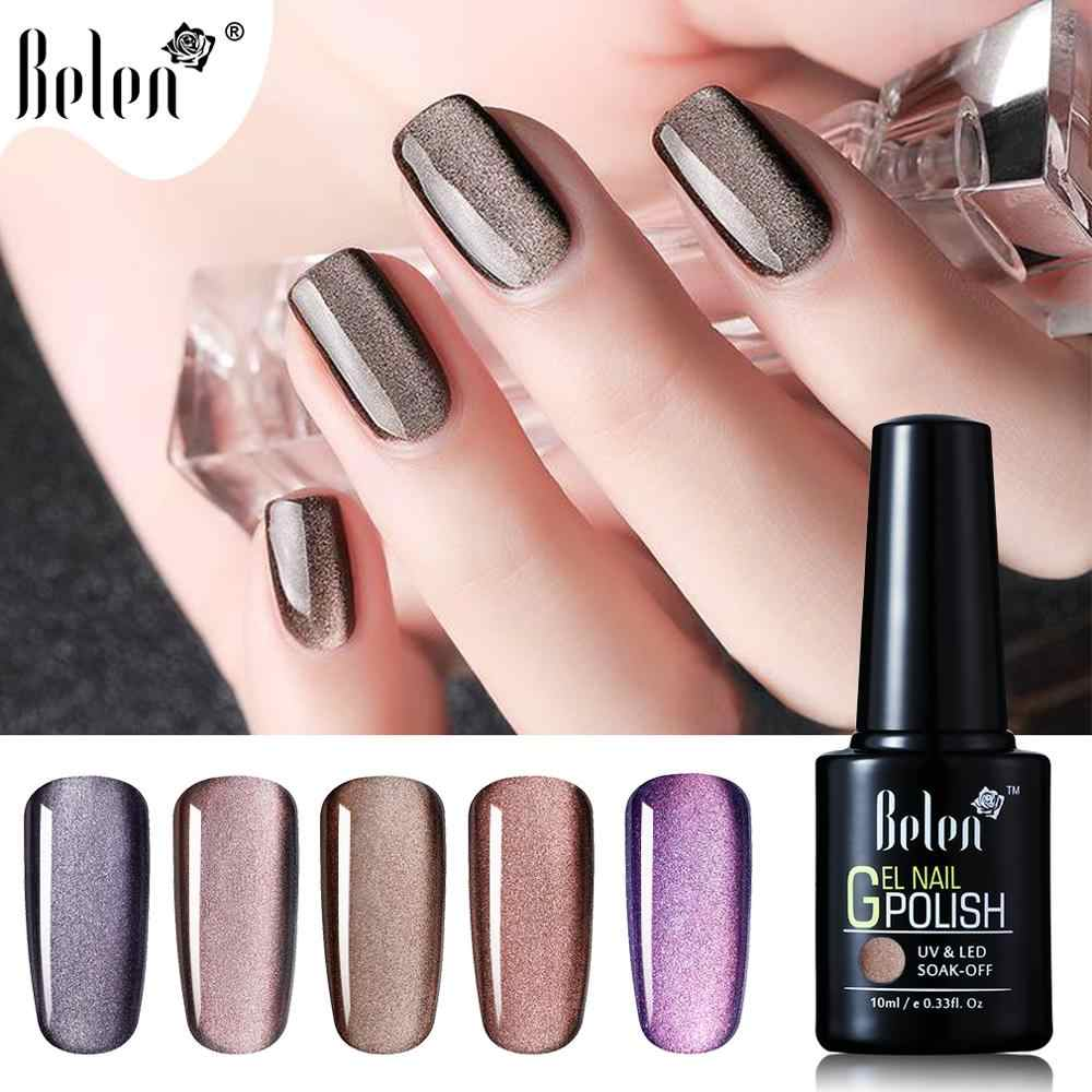 Belen 10ml Cat Eye UV Gel Nail Polish 5D Wide Line Magnetic Cat Eyes Soak Off Nail Art Hybrid LED Lamp DIY Gellak Lacquer Enamel