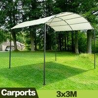 3x3M demir standı ev bahçe kapakları açık tenteler güneş gölge sera araba garajları sundurma gölgelik ile standı| |   -