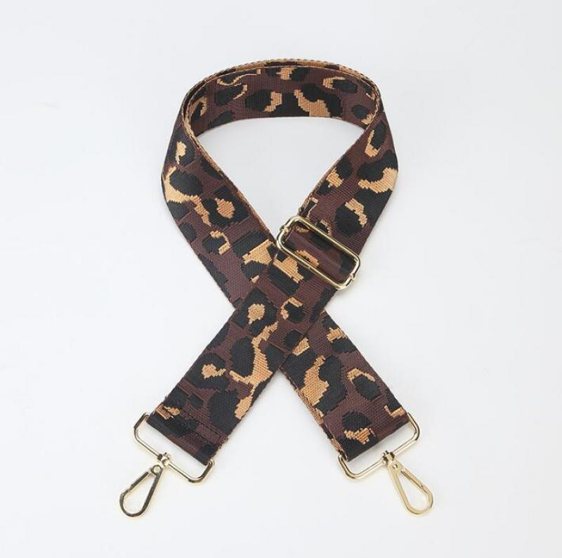 Leopard Pattern Bag Strap Adjustable Wide Shoulder Bag Strap Replacement Handbag Belt Nylon accessories for bags Part 2021 New