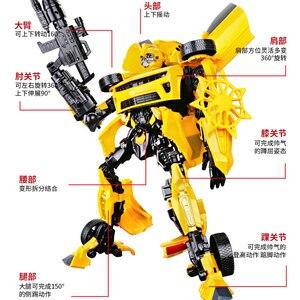 45 см роботы-трансформеры, автомобильные игрушки, военные лопасти для сражения, Оптимус Прайм, фильм, 4 модели, классические подарки, игрушки ...