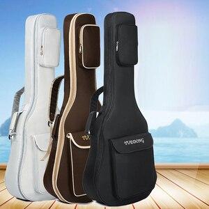 Чехол для гитары из ткани Оксфорд, кофейная сумка с двумя ремешками, 7 мм, хлопковый утепленный мягкий чехол, водонепроницаемый рюкзак