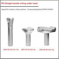 30mm 50mm 80mm R5 Turret milling straight shank round nose cutter head,Special cutter head for general milling machine