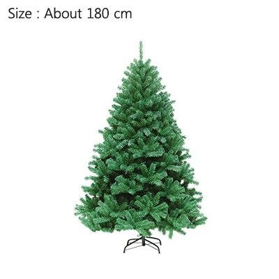 Strongwell 45/60/90/120 см Шифрование зеленое дерево мини искусственная Рождественская елка украшения светодиодное Рождественское украшение Декор - Цвет: 180cm