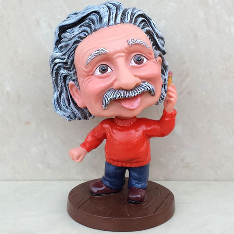Einstein Crafts Ornaments Statue Personality Of Creative Gifts Celebrity Figure Can Shake His Head Scientist Figurine A670