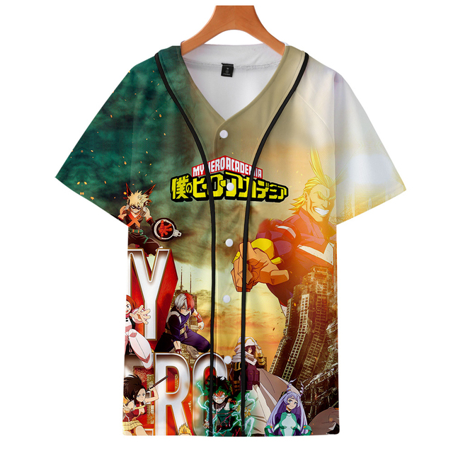 3D MY HERO ACADEMIA BASEBALL T-SHIRT (18 VARIAN)