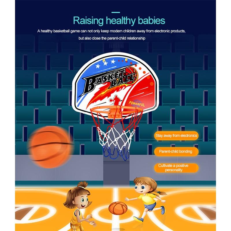 Mini Basketball Hoop Toy Set Children Outdoor Games Development Of Adults Basketball Basket Interesting Indoor Sport Accessories