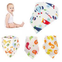 Baby Bibs for Boy&Girl Bib Burp Animals pattern Triangle Cotton Baby Scarf Meal Collar Burp Baby Towels Accessories Dropshipping