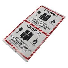 """DHL 1000 шт./лот 12*11 см событие самоклеющиеся литий-ионный Батарея наклейка """"осторожно"""" 4,7"""" x 4,33"""" Предупреждение устройство для ярлыков напоминание"""