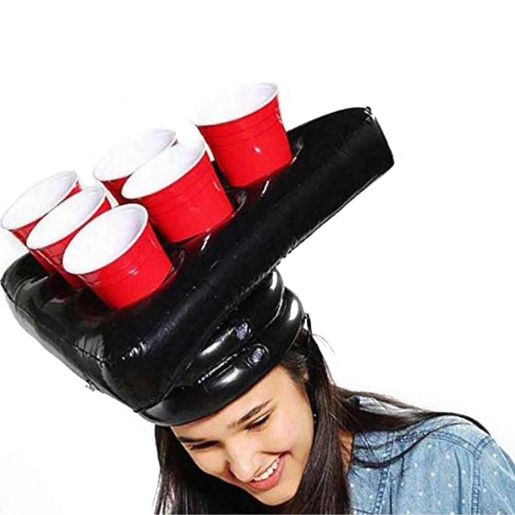 Inflatable Beer Pong Hat Floating Pong Game For Swimming Pool Party Supplies Beach Inflatable Toys For Children Giant Beer Pong