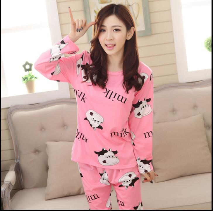 Wholesale Pajamas Sets Spring Autumn 22 Style Thin Carton Generation Women Long Sleepwear Suit Home Women Gift Female Sleepwear 30
