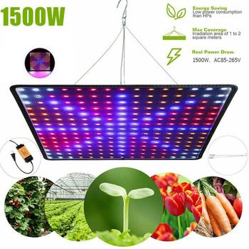 led plant grow light full spectrum 216w wide range led plant grow lamp red blue white ir uv for hydroponics tent plant light Phytolampa 225 Led 1500W Full Spectrum Indoor LED Grow Light For Plant Growing Flower Seed Lamp Tent Fitolampy UV IR Red/Blue