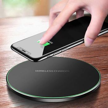 10W rápido inalámbrico cargador para Samsung Galaxy S10 S20 S9 Nota 10 9 USB de carga Qi portátil Pad para iPhone 11 Pro XS Max X 8 Plus