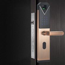 Jcf3325b biométrico de alta segurança controle acesso fechadura da porta impressão digital eletrônico serrure porte