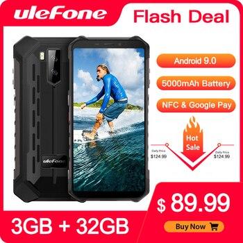 Купить Ulefone Armor X5 прочный водонепроницаемый смартфон Android 9,0 3 ГБ 32 ГБ 5000 мАч сотовый телефон 4G LTE NFC IP68 водонепроницаемый мобильный телефон