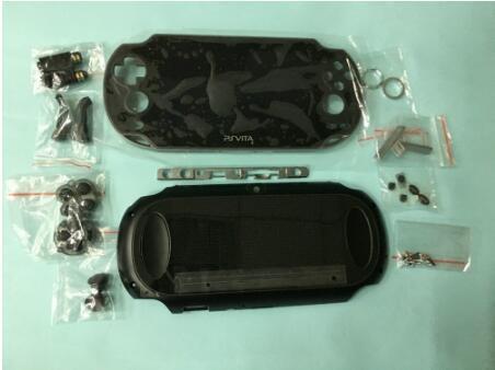 Voor psvita ps vita psv 1000 pch 1001 lcd scherm + back cover behuizing shell case + knoppen kit schroeven set