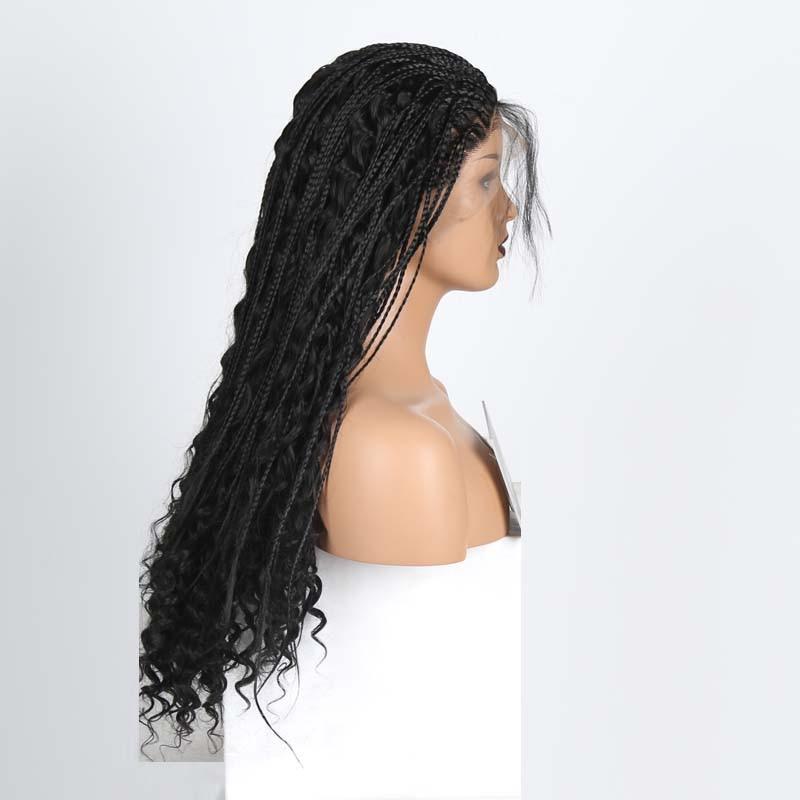 rongduoyi perucas frontais de renda longa trancada 04