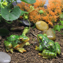 Cute Frog Mini Resin Crafts Fairy Garden Miniatures DIY Terrarium Succulents Miniatures Micro Landscape Decoration