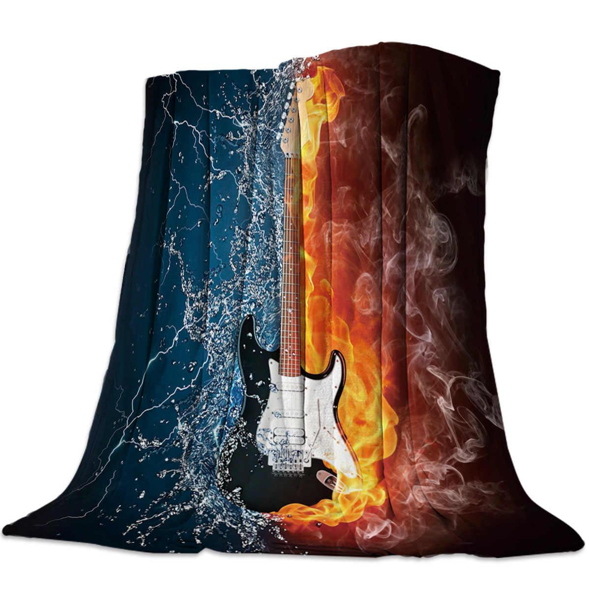 Guitar Fleece Blanket