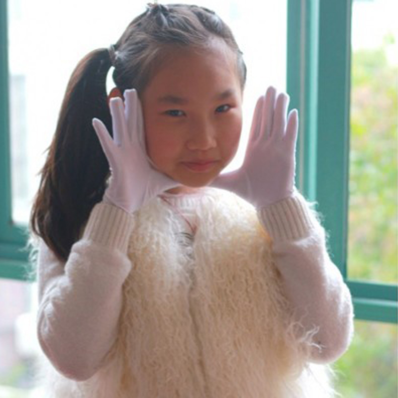 New Summer Sun Protection Children Wrist Gloves & Mittens Elastic  Girl Dancing Gloves Drop Shipping