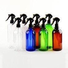 500ML Nach Dem Zufall Farbe PET Spray Flaschen Trigger Sprayer Ätherische Öle Aromatherapie Parfüm Nachfüllbare Flasche