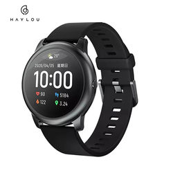 Haylou LS05 Solar Smart Watch Sport Fitness Sleep Heart Rate Monitor Bluetooth SmartWatch For iOS Android IP68