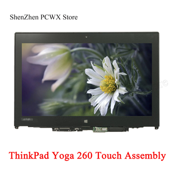 for Lenovo ThinkPad Yoga 260 LCD Touch ASSEMBLIES With Bezel Frame 12.5 Laptop IPS 30pins 01HY609 1366*768 01HY615 FHD 1920*1080