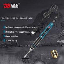 CXG 968 Mini USB Electric Soldering Iron Adjustable Constant Temperature 5V 24V 230W