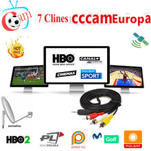 Cccam Europa Spain Server For 1 Year Europe Portugal France DVB-S2 Freesat V7,V7S HD,V8 Super,V8 NOVA Satellite receiver(China)