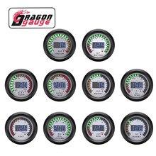 DRAGON GAUGE 52mm Tachometer Voltmeter Boost bar/psi Vacuum Air-Fuel Ratio Water Temp Oil Temp Oil Press EGT Gauge for 12V Car