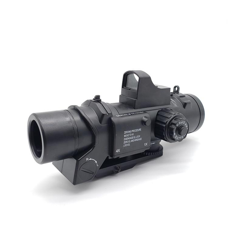 Gun accessories Rifle Scope DR Quick Detachable 1X-4X Adjustable Dual Role Sight Water gun Scope Magnificate toy