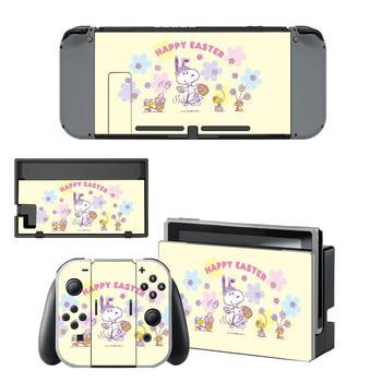 Cartoon PEANUTS Dog Nintendo Switch Skin Sticker NintendoSwitch stickers skins for Nintend Switch Console and Joy-Con Controller 2