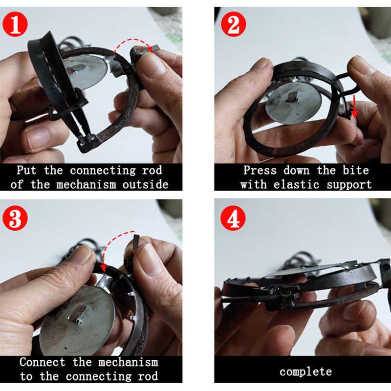 Herbruikbare Muis Clip Ijzer Sterke Ronde Grond Clip Wilde Vangst Muis Artefact Thuis Ouderwetse Doden Vangen Muizenval Pest controle