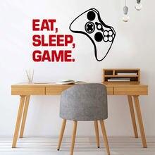 Красочная картинка «eat sleep» Декор для дома ПВХ наклейка детской