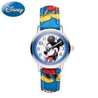 Vender Reloj genuino con dibujos animados de Mickey Mouse para niños y niñas, reloj Casual de moda para el sueño de niños y niñas, relojes alegres de Disney para estudiantes y tiempo escolar
